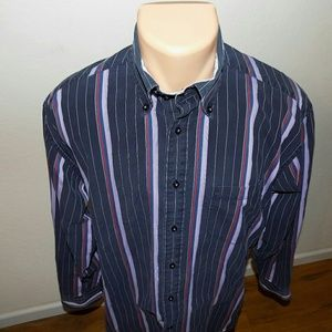 Tommy Hilfiger | Vertical Striped Button Down SZ M